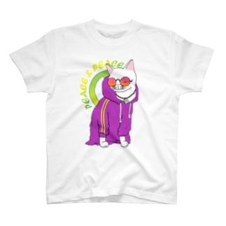 シロクマ商店の着せられネコ T-shirts