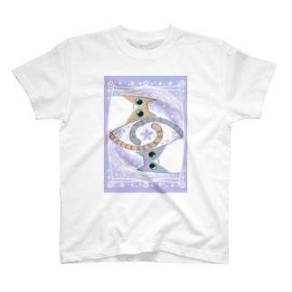 ゆるい系の猫-ふじ色- T-shirts