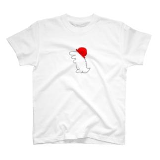 帽子ワニ(赤) T-shirts