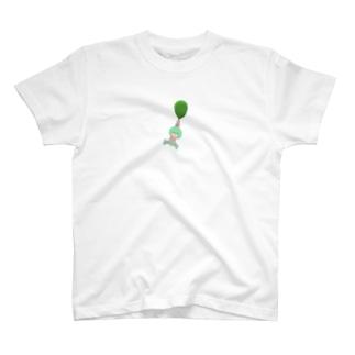 風船につかまってどこへでも。 T-shirts