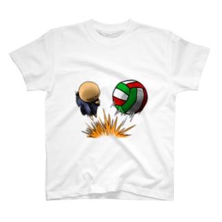 落ちこぼれのこぼれ君 スパイク T-shirts
