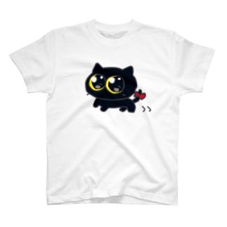 ミカヅキネコのおさんぽ T-shirts
