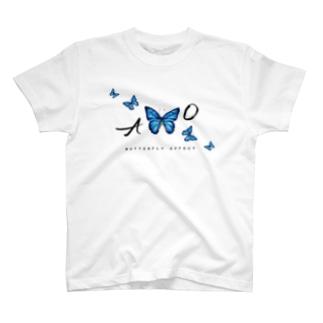 青い蝶 BUTTERFLY  EFFECT T-Shirt