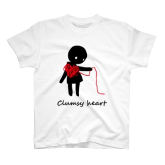 clumsy heart T-shirts