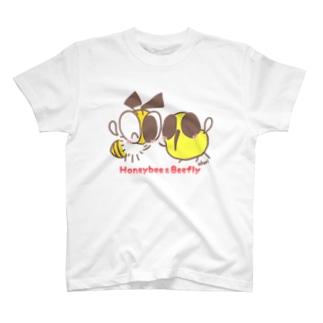 akari🌼虫デフォルメ作家のみつばちちゃん&つりあぶちゃん【みつばち&つりあぶ】 T-shirts
