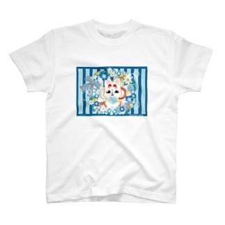 フラワーイナホ T-shirts