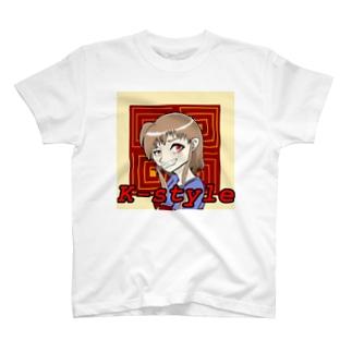 ちょっと悪びれた女の子 T-shirts