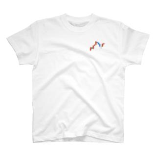 ローソク足Tシャツ T-shirts