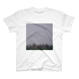 Fog and deer II T-shirts
