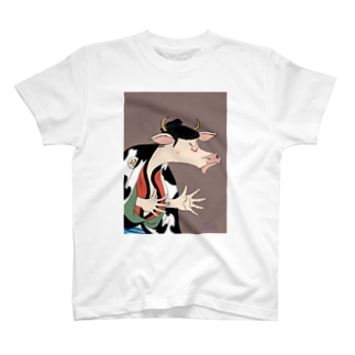 リリーさんのグッズ店の丑世絵 T-shirts