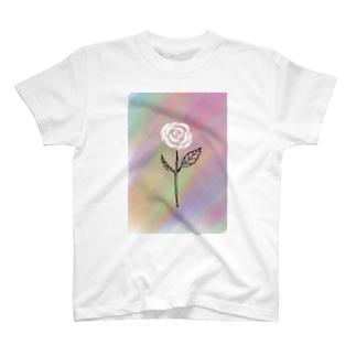 Rock Style Hero Originの世紀末に咲く一輪の薔薇 T-shirts