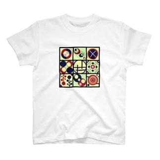 レトロな丸【模様シリーズ】 T-shirts