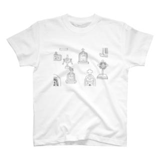 お墓 T-shirts