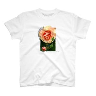 咲き誇れ(オレンジ) T-shirts