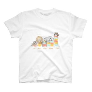 たぬきさんと大食い競争 T-shirts