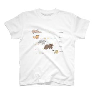 きつねさんと追いかけっこ T-shirts