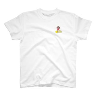 さかもとこのみのグッズやさんの流れ星と女の子 T-shirts