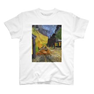 ゴッホ(Vincent van Gogh) / 夜のカフェテラス (Terrasse du café le soir) 1888 T-shirts