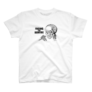 【FACING THE BONFIRE】ホワイト T-Shirt