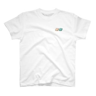 四角いグミ【白/青生地用カラー】 T-Shirt