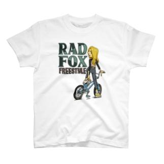 """nidan-illustrationの""""RAD FOX"""" T-Shirt"""