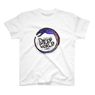 deep world blue T-shirts