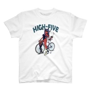 "nidan-illustrationの""HIGH FIVE"" T-Shirt"