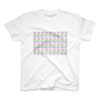 Rasen52のパステルにゃんまみれ 1 T-shirts