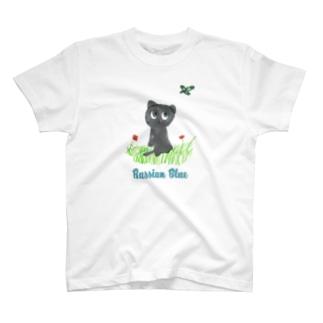ロシアンブルーにゃん T-Shirt