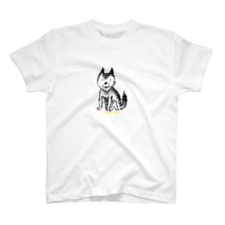 もざいくオオカミ空腹 T-shirts