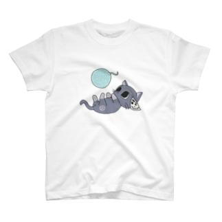 毛糸で遊ぶトマ猫Tシャツ T-shirts