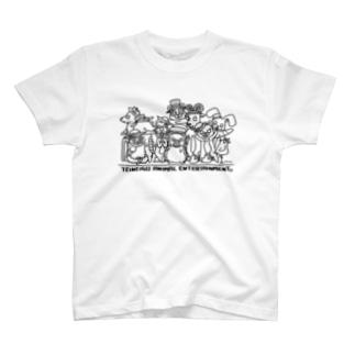 ていねいごあにまる 集合写真 T-shirts