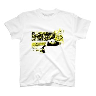 パンダ アフターランチ T-shirts