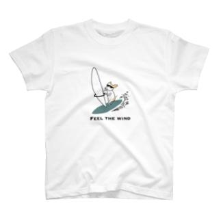 サーフィン犬 T-shirts