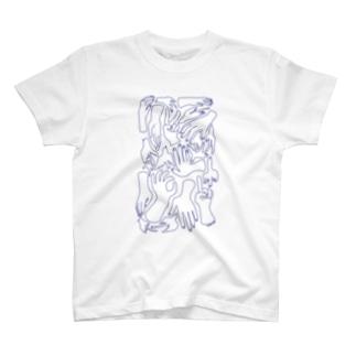 手と鳥たち T-shirts