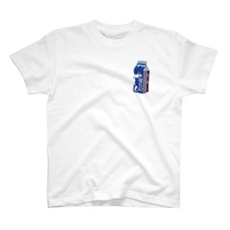 牛乳ブルー T-shirts