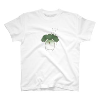 水やり(だいこんに水をかける図) T-shirts