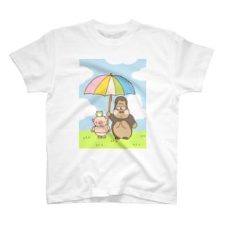 ゴリラといっしょ T-shirts