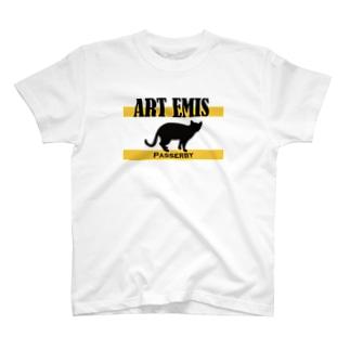 ALUのART EMIS (白/黒) T-shirts