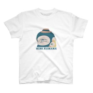 MINI BANANA ゴリラの親子のMINI BANANA ゴリラ親子 T-shirts