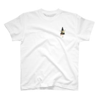 妖怪 からかさ小僧(ワンポイント) T-shirts