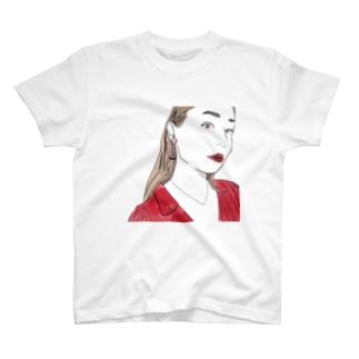 赤と女の子 T-shirts