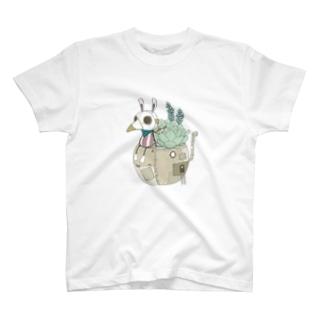 スチパンうさぎ(多肉植物) T-shirts