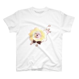 サーカスの休憩ちゅうライオン(カラー) T-shirts