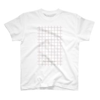チェックピンク T-shirts