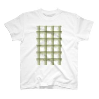 チェックみどりあらめ T-shirts