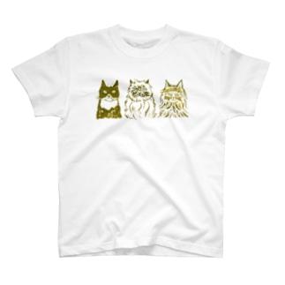 minachape STOREの3匹の猫 T-shirts