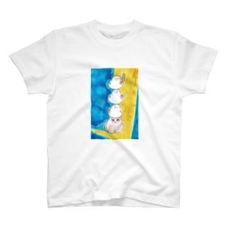 シマエナガ三重奏 T-shirts