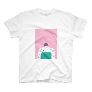 タトゥー ピンク T-Shirt