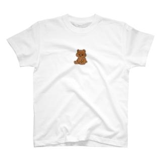 茶色のかわいい無表情クマさん T-Shirt
